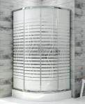 SANPLAST - Kabina 90x90 półokrągła z brodzikiem FRIS