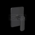 INVENA - Bateria podtynkowa natryskowa 1-funkcyjna SIROS czarna BP-90-4K1