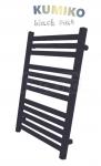 GAMABIK - Grzejnik łazienkowy KUMIKO 1350/540 CZARNY MAT moc 606W