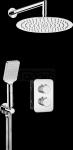 DEANTE - Zestaw BOX Chrom podtynkowy termostatyczny okrągły  BXYZ0EBT