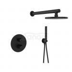LAVEO - Zestaw prysznicowy podtynkowy czarny PRETTO BAO 701P