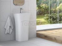 BESCO Umywalka wolnostojąca Assos S-Line Black&White 40x50x85