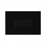 NEW TRENDY - Brodzik Konglomeratowy ze strukturą kamienia naturalnego MORI/czarny 140x80