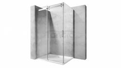 REA - Kabina NIXON - 2 prostokątna EASY CLEAN PREMIUM / drzwi 140 + ścianka 100 /