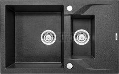 DEANTE Zlewozmywak ANDANTE 1,5-komorowy z krótkim ociekaczem - grafitowy ZQN 2513