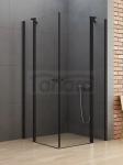 NEW TRENDY Kabina prysznicowa NEW SOLEO BLACK z podwójnymi drzwiami otwieranymi na zewnątrz i do wewnątrz 90x100x195 K-0554