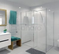 DURASAN - Kabina prysznicowa WALK - IN SMART Plus Nano Glass (Easy Clean)