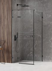 NEW TRENDY - Kabina prysznicowa prostokątna AVEXA BLACK 80x120 EXK-1570/71