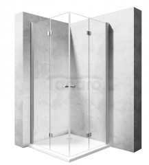 REA - Kabina prysznicowa MODUŁ FOLD N2 prostokątna podwójne drzwi składane 90x120