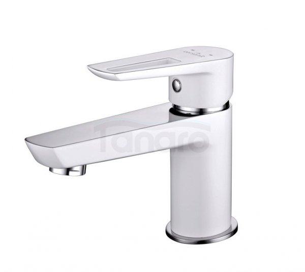CERSANIT - Bateria umywalkowa stojąca z korkiem MILLE WHITE Solution S951-047