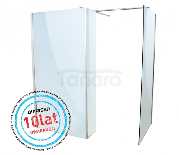 DURASAN - Kabina prysznicowa WALK - IN SMART Nano Glass (Easy Clean)