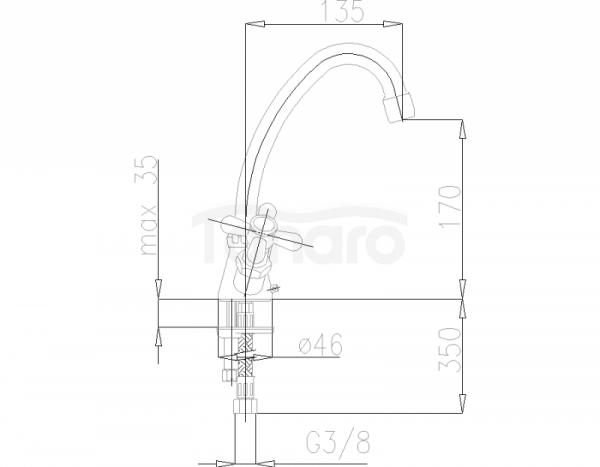 ARMATURA KRAKÓW - Retro Chrom Bateria umywalkowa stojąca 372-345-00