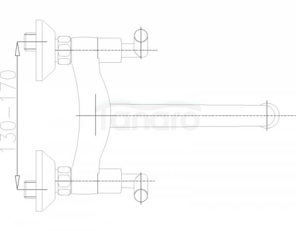 ARMATURA KRAKÓW - Harmonic Bateria zlewozmywakowa ścienna 340-920-00