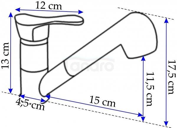 REA - Bateria kuchenna / umywalkowa JAZ 2000 z wyciąganą wylewką PREMIUM