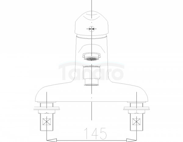 ARMATURA KRAKÓW - Piryt wannowa stojąca 445-041-00