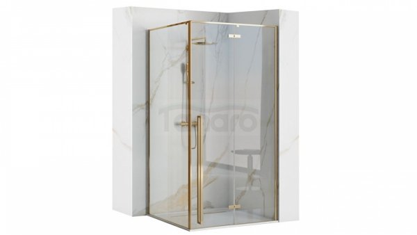 REA Kabina prysznicowa kwadratowa 90x90 narożna FARGO GOLD/ZŁOTA