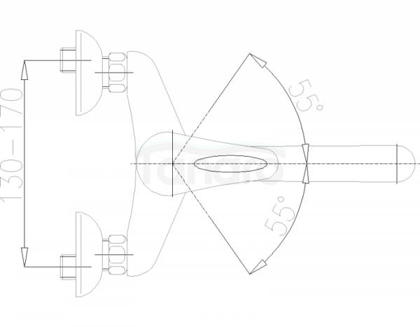 ARMATURA KRAKÓW - Piryt Bateria  zlewozmywakowa ścienna 440-940-00