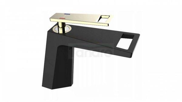 REA - Bateria umywalkowa GIO BLACK/GOLD