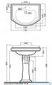 Kerasan Retro Umywalka 73cm 1047