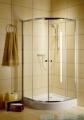 Radaway Classic A Kabina prysznicowa półokrągła z drzwiami przesuwnymi 90x90x185 szkło przejrzyste