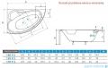 Piramida Finezja 155x95cm Wanna asymetryczna Prawa FIN155P