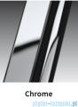 Novellini Drzwi do wnęki z elementem stałym GIADA G+F 150 cm lewe szkło przejrzyste profil chrom GIADNGF150S-1K