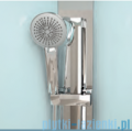 Novellini Glax 3 kabina prysznicowa masażowo-parowa 90x70 prawa srebrny GL3A7090DT1N-1B
