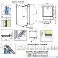 Radaway Euphoria KDJ Kabina prysznicowa 90x90 prawa szkło przejrzyste + brodzik Delos C + syfon 383612-01R/383241-01R/383050-01/SDC0909-01