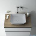 Elita Reni umywalka nablatowa ceramiczna 45x32cm Ceram Stone Matt 145096