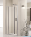 Novellini Drzwi prysznicowe harmonijkowe LUNES S 96 cm szkło przejrzyste profil biały LUNESS96-1D