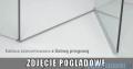 Radaway Euphoria KDJ+S Kabina przyścienna 80x120x80 prawa szkło przejrzyste z progiem