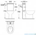 Grohe Bau Ceramic spłuczka WC kompakt biała 39437000
