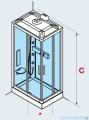 Novellini Glax 3 kabina prysznicowa masażowo-parowa 100x80 lewa srebrny GL3A100SM1N-1B