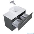Elita Kwadro Plus szafka z umywalką 80x53x40cm anthracite 166771/22052006N