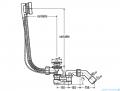 Viega Syfon komplet odpływowo-przelewowy wannowy Simplex z korkiem automatycznym 495121
