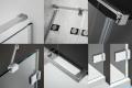 Radaway Euphoria KDJ Kabina prysznicowa 90x110 lewa szkło przejrzyste 383612-01L/383241-01L/383053-01