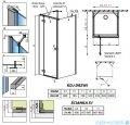 Radaway Essenza New Kdj+S kabina 90x80x90cm lewa szkło przejrzyste 385021-01-01L/384050-01-01/384050-01-01