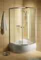 Radaway Classic A Kabina prysznicowa półokrągła z drzwiami przesuwnymi 80x80x170 szkło przejrzyste