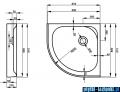 Brodzik półokrągły ATRIUM EF86 80x80 cm