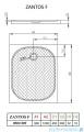 Radaway Zantos F brodzik prostokątny 120x90cm M3ZNF1290-06