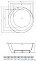 Vayer Bumerang 160x160cm Wanna okrągła wolnostojąca z panelem