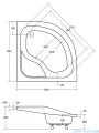 Piramida Oliver Brodzik 80x80cm półokrągły z podwyższonym siedziskiem #BAO-80-NR