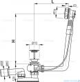 Alcaplast  syfon wannowy automatyczny chrom A550KM
