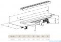 Radaway Slim Basic odpływ liniowy 95x6cm 5L095S/5R095SB
