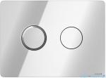 Cersanit Accento Circle przycisk spłukujący pneumatyczny 2-funkcyjny chrom S97-056