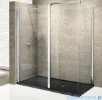 Novellini Elysium Kuadra h35 Ścianka boczna 70 szkło przejrzyste profil chrom KUADH70-1K