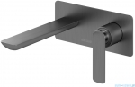 Kohlman Experience gray bateria podtynkowa umywalkowa szczotkowany grafit QW185EG