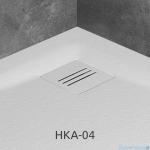 Radaway Kratka odpływowa do brodzika Kyntos biała HKA-04