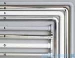 Sealskin Drążek prysznicowy Seallux 80-130cm aluminium chrom 76663218