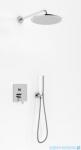 Kohlman Gixs zestaw prysznicowy z deszczownicą 30cm chrom QW210GR30